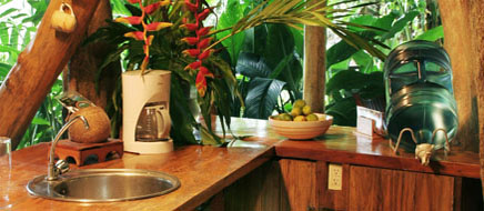 Costa Rica Tree House Lodge: the tree house fully equiped kitchen