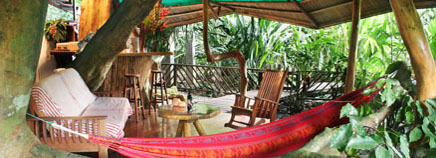 Costa Rica Tree House Lodge: the tree house open living room